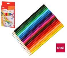 Pastelky DELI trojhranné ColoRun 18 barev EC00310