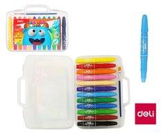 Pastelky gelové DELI 12 barev Color Kids EC20504