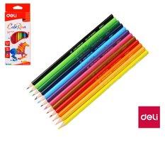 Pastelky DELI trojhranné ColoRun bezdřevé 12 barev EC00100