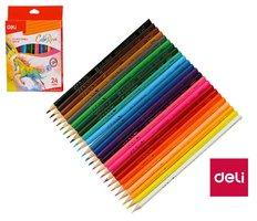 Pastelky DELI trojhranné ColoRun 24 barev EC00320