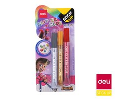 Lepidlo glitrové 3ks STICK UP DELI EA71001 12ml