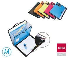 Desky na spisy A4 7 přihrádek + blok DELI E38965 vyprodáno
