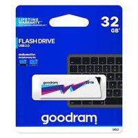 Goodram USB flash disk, USB 2.0, 32GB, UCL2, bílý, UCL2-0320W0R11, USB A, vysouvací konekt