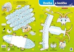 Vystřihovánka Ovečka a kozička  BV042