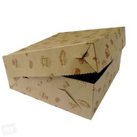 Krabice dortová  KRAFT  s motivem 28 x 28 x 11 cm 50ks/bal. 901.48