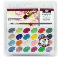 Akvarelové barvy perleťové - 24 ks + štětec a blok akvarelovýRART-2008