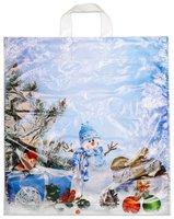 Taška PE s uchem vánoční sněhulák