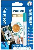 Sada PILOT Pintor Metal - EF hrot 0,7 mm, 6ks 4077/S6-METAL