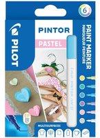 Sada PILOT Pintor Pastel - EF hrot 0,7 mm, 6ks 4077/S6-PASTEL