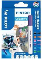 Sada PILOT Pintor Creative - F hrot 1 mm, 6ks 4074/S6-FUN