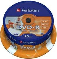 DVD-R VERBATIM Printable 43538 25-pack, 4.7GB, 16x, 12cm