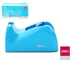 Odvíječ lepící pásky stolní DELI do 24mm E815A modrý
