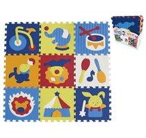 Pěnové puzzle 'Cirkus' - 9 ks, 30x30x1cm   M129C