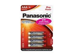 Baterie alkalická, AAA, 1.5V, Panasonic, blistr, 4-pack, 00265899, Pro Power, cena za 1 ks