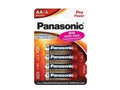 Baterie alkalická, AA, 1.5V, Panasonic, blistr, 4-pack, 235999, , Pro Power, cena za 1 ks