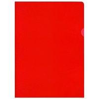 Zakládací obal na doklady L A4 HERLITZ, 110mic, 303x215mm, červený, 1ks/10/100,  AH 111