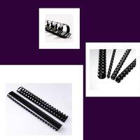 Hřbet kroužkový plastový pro vazbu, černý, 32mm pro 280listů, 1ks/50, prodej po kusech