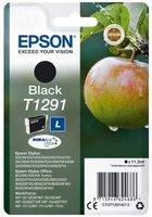 Epson originální ink C13T12914022, T1291, black, blistr, 420str., 11,2ml,originální ink.