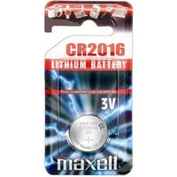 Baterie lithiová, konflíková, CR2016, 3V, Maxell, blistr, 1-pack