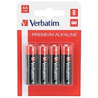 Baterie alkalická, AA, 1.5V, Verbatim, blistr, 4-pack, 49921
