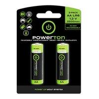 Nabíjecí baterie, AA (HR6), 1.2V, 2500mAh, Powerton, blistr, 2-pack