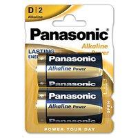 Baterie alkalická, velký monočlánek, D, 1.5V, Panasonic, blistr, 2-pack, Alkaline power