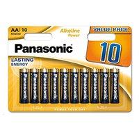 Baterie alkalická, AA, 1.5V, Panasonic, blistr, 10-pack, Alkaline power