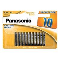 Baterie alkalická, AAA, 1.5V, Panasonic, blistr, 10-pack, Bronze, Alkaline power