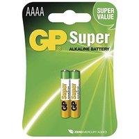 Baterie alkalická, AAAA, 1.5V, GP, blistr, 2-pack, speciální
