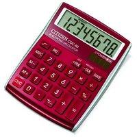 Citizen Kalkulačka CDC80RDWB, červená, stolní, osmimístná, automatické vypnutí