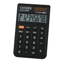 Citizen Kalkulačka SLD200NR, černá, kapesní, osmimístná