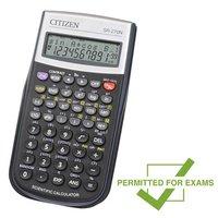 Citizen Kalkulačka SR270N, černá, vědecká, desetimístná