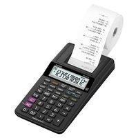 Casio Kalkulačka HR 8 RCE BK, černá, stolní, dvanáctimístná, jednobarevný tisk
