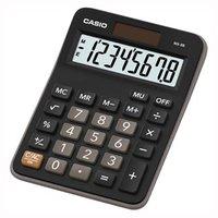 Casio Kalkulačka MX 8 B BK, černá, stolní s výpočtem marže, %, odmocniny,tlačítko +/-