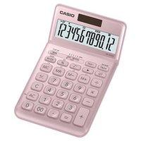 Casio Kalkulačka JW 200 SC PK, růžová, dvanáctimístná, duální napájení, sklápěcí displej