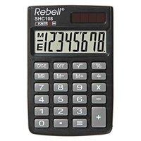 Rebell Kalkulačka RE-SHC108 BX, RE-SHC100N BX, černá, kapesní, osmimístná
