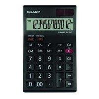 Sharp Kalkulačka EL-124TWH, černo-bílá, stolní, dvanáctimístná
