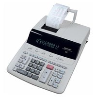 Sharp Kalkulačka CS-2635RHGYSE, bílá, stolní s tiskem, dvanáctimístná