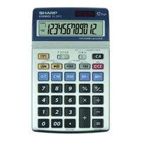 Sharp Kalkulačka EL-337C, stříbrná, stolní, dvanáctimístná