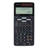 Sharp Kalkulačka EL-W506T-GY, černo-šedá, vědecká, bodový displej