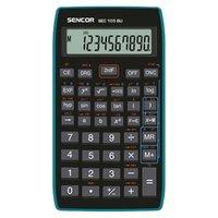 Sencor Kalkulačka SEC 105 BU, černá, školní, desetimístná, modrý rámeček