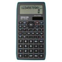 Sencor Kalkulačka SEC 150 BU, šedá, školní, dvanáctimístná, modrý rámeček