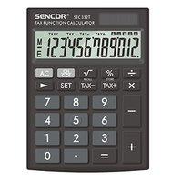 Sencor Kalkulačka SEC 332 T, černá, stolní, dvanáctimístná, duální napájení