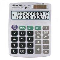 Sencor Kalkulačka SEC 367/12, šedá, stolní, dvanáctimístná, duální napájení