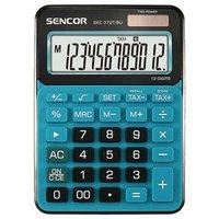Sencor Kalkulačka SEC 372T/BU, modrá, stolní, dvanáctimístná