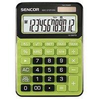 Sencor Kalkulačka SEC 372T/GN, zelená, stolní, dvanáctimístná