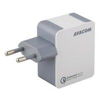 AVACOM, Síťový adaptér, 1x USB, 240V, 5V, max 3000mA, bílá