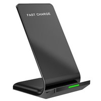 Bezdrátová nabíječka, pro mobilní telefon, černá, 5/9V, 10W, Qi