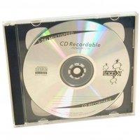 Box na 2 ks CD, průhledný, černý tray, 10,4 mm, 200-pack, cena za 1 ks