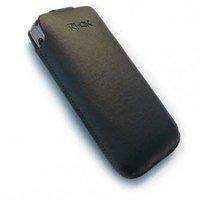 Pouzdro na mobil, černé, imitace kůže, 97x50x16